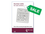 SALE: Number skills for care workers (pack of ten)